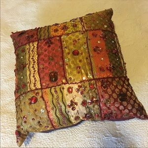 Boho gypsy throw pillow